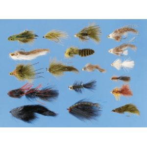 Cabela's 18-Piece Ultimate Streamer Assortment - Olive/Brown/Black