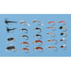 Cabela's 24-Piece Midge Fly Assortment - Black