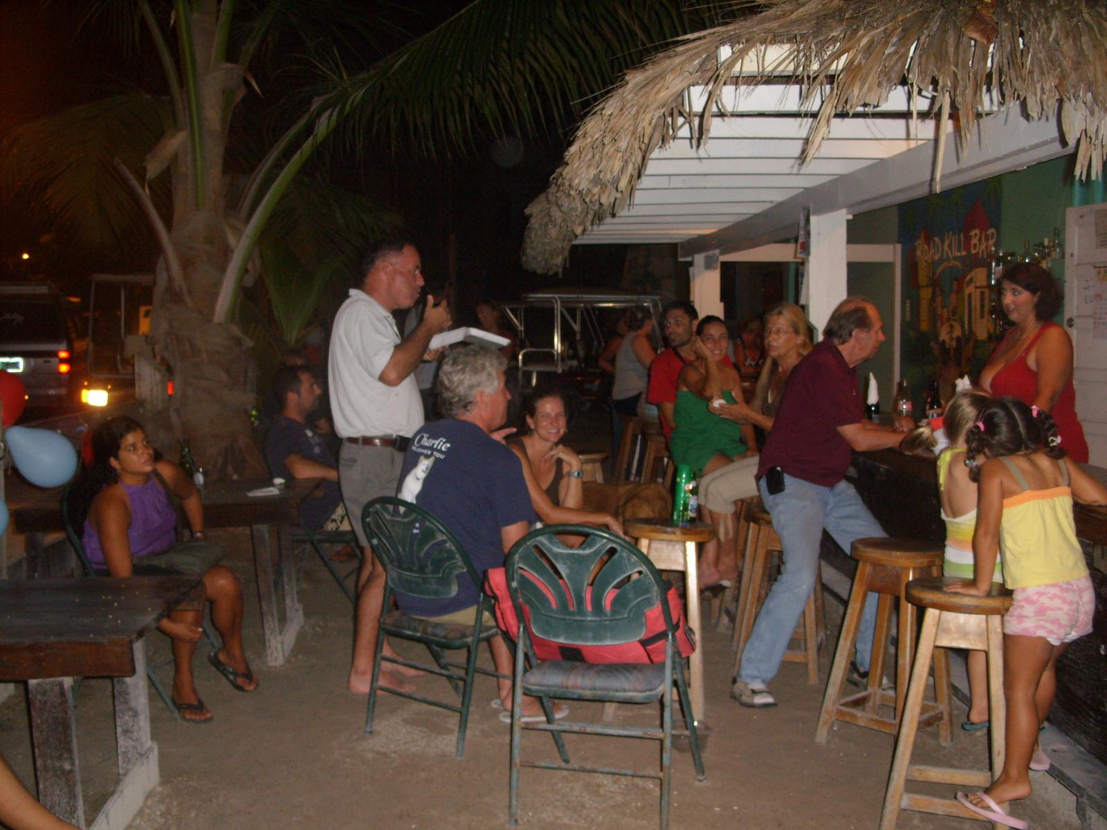 Belize night life strip