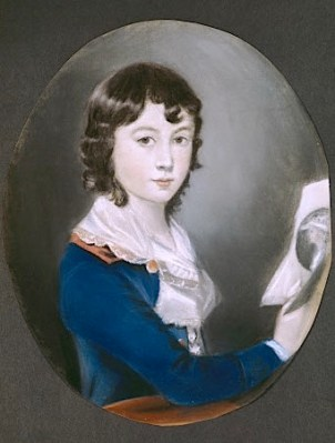 SELF PORTRAIT by Sir Thomas Lawrence PRA (1769-1830), at The Vyne. He was so precocious that at the age of ten he was in practice as a portrait draughtsman.