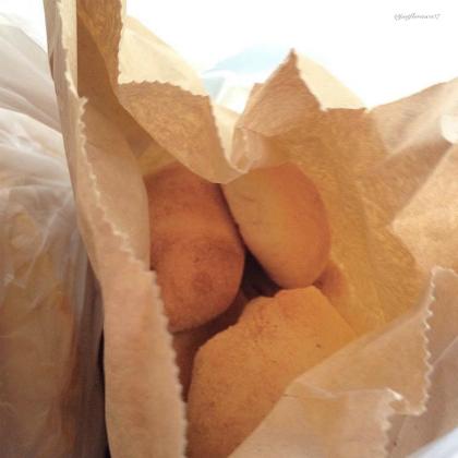 Pandesal in paper bag