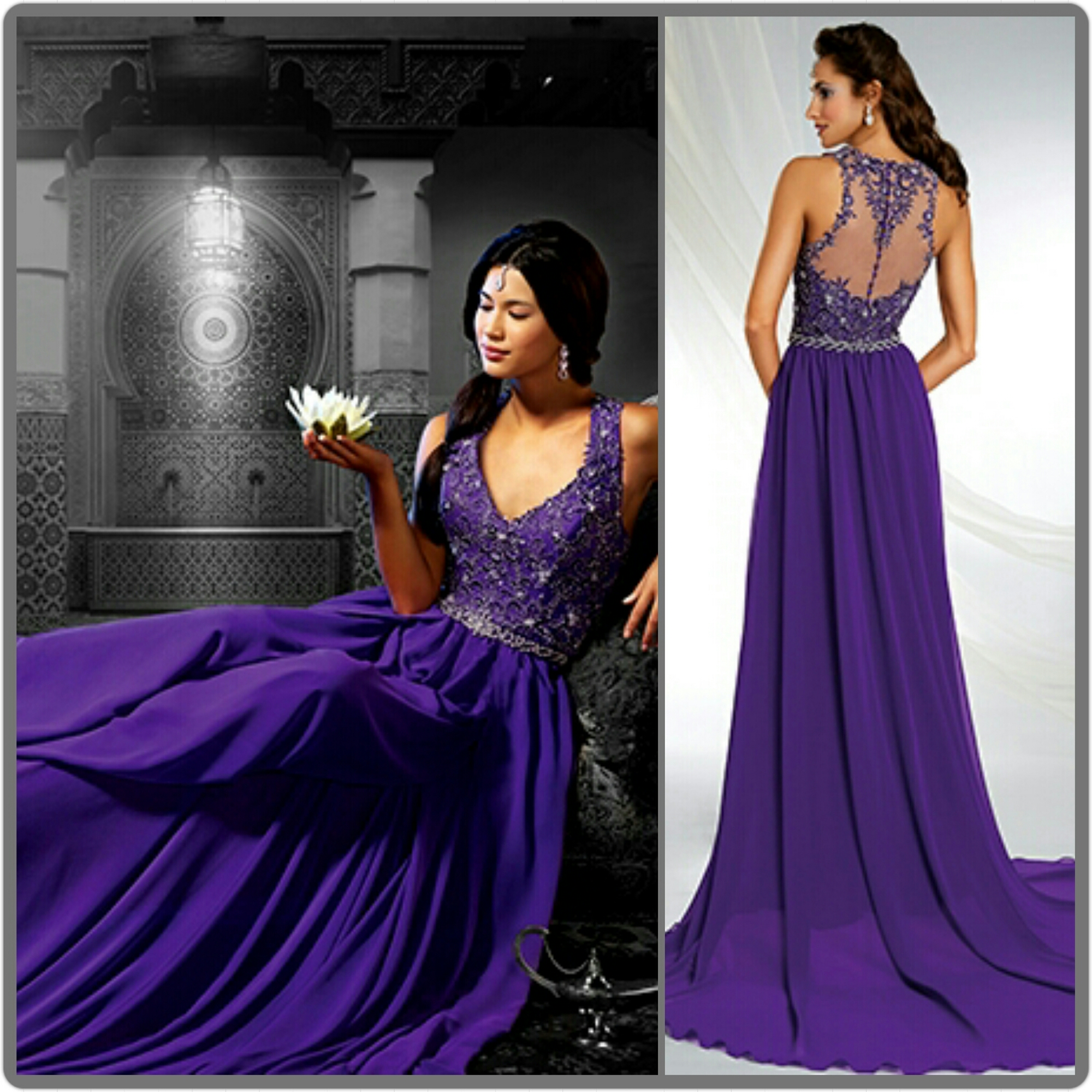 20 gorgeous wedding gowns in shades of purple purple dress for wedding Black Velvet Bodice Purple Satin Ballgown Wedding Dress Style Elegant and Sophisticated this beauty of a Ballgown will definitely be a