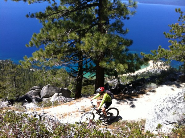 Mountain biker Flume Trail