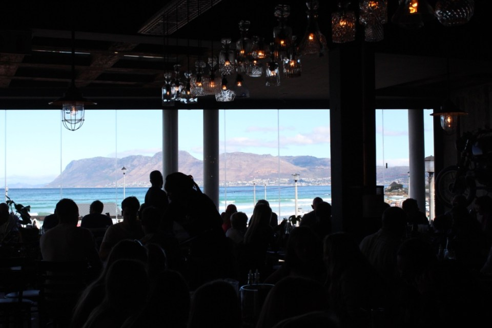 The view from Tiger's Milk restaurant in Muizenberg