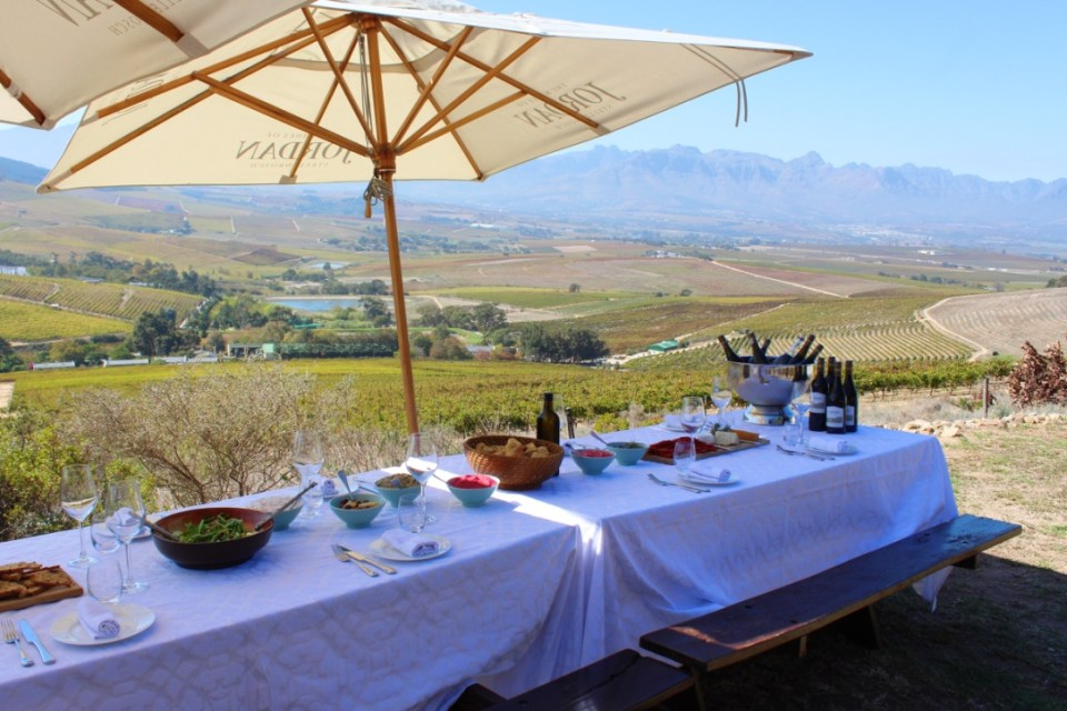Lunch with a view at Jordan Wine Estate