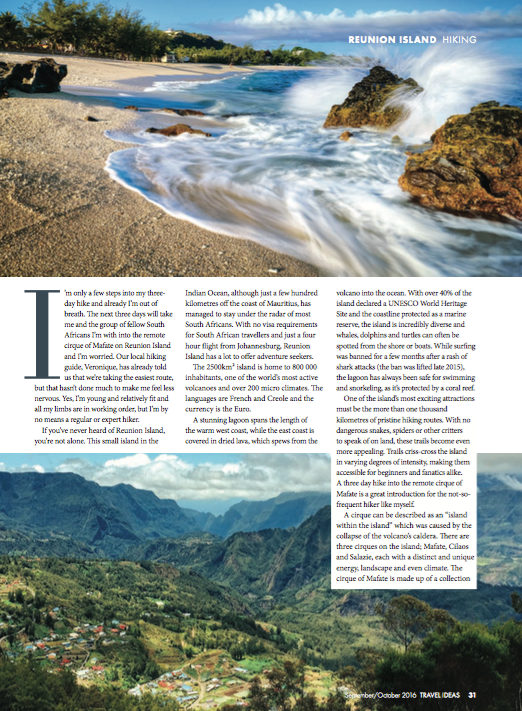 Travel Ideas Magazine Hiking Reunion Island