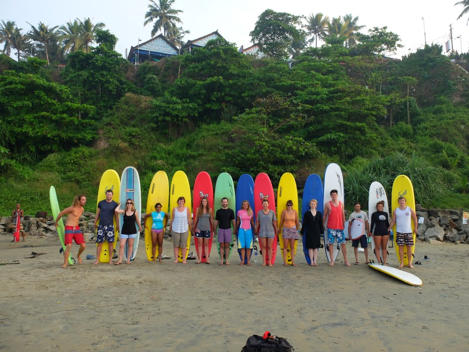 Learn to surf in India