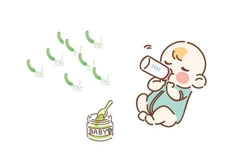 ミルクを飲んでいる赤ちゃんとボツリヌス菌