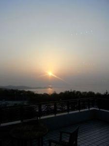 宿からの夕日
