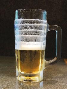 エンジェルリングの出来たビール