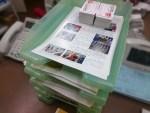 たこ梅FUN倶楽部通信4月号の封筒詰め作業が始まりました!!