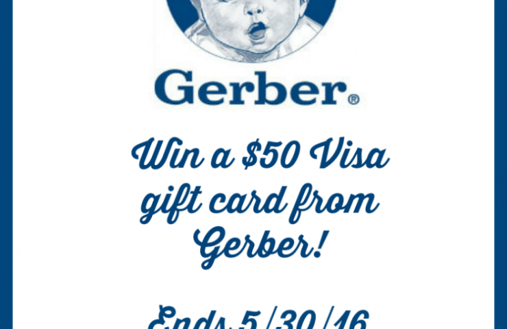 $50 Visa gift card from Gerber Giveaway!