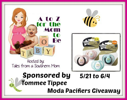 Tommee Tippee Moda Pacifier Giveaway!  6/7
