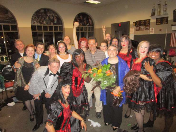 myself with the La Cage aux Folles players