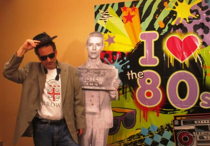 Later that year, Writer's and Books had an 80's night. This time I wore the shirt.