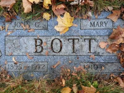 Bott Grave in Irondequoit Cemetery