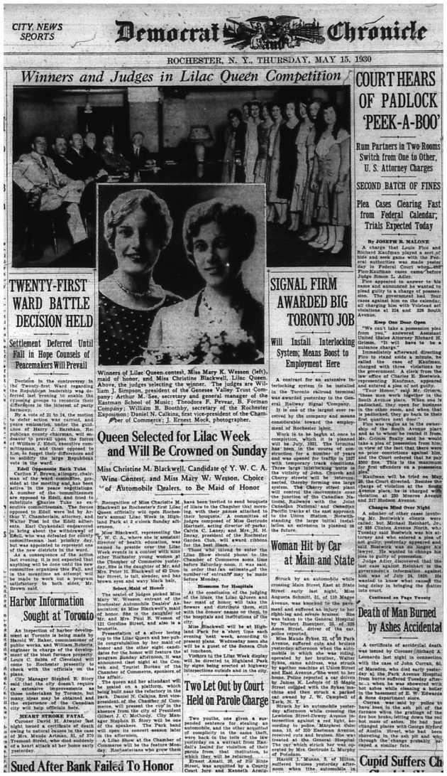 Lilac Queen 5-15-1930