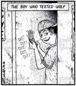 The boy who texted Wolf.
