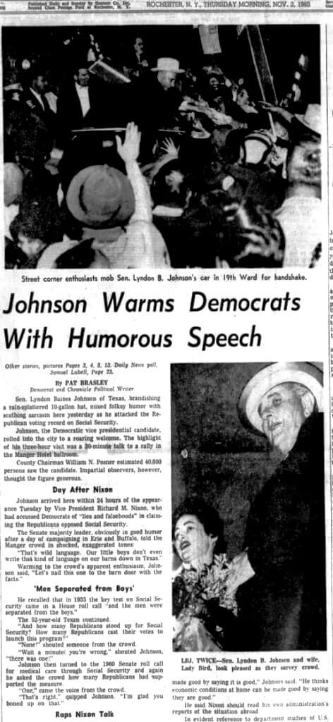 Democrat and Chronicle, 03 Nov 1960, Thu, METROPOLITAN EDITION, Page 1