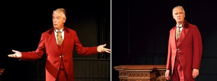 "PHOTOS BY ANNETTE DRAGON - Peter Doyle performs as Oscar Wilde in the one-man play ""Diversions and Delights"" at MuCCC."