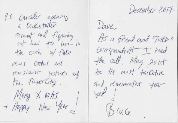 Bruce's card new