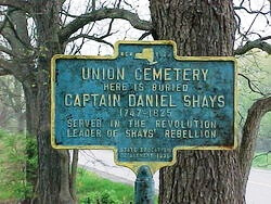 Shays Rebellion historic marker
