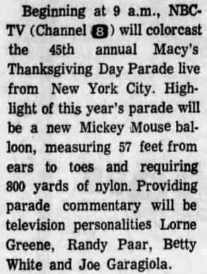 Rochester Democrat and Chronicle, 25 Nov 1971