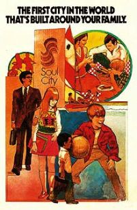 Advertisement for Soul City, ca. 1970. (wiki)