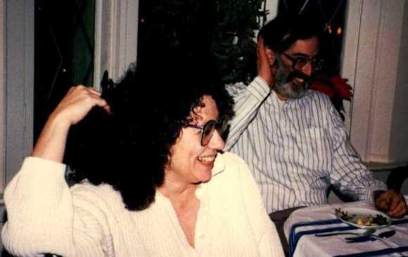 Early to mid-2000s. (left) Lynda Howland; (right) Sidney Rosenzweig. [Photo: Carol Kramer]