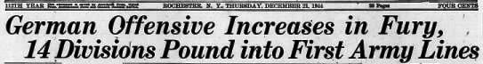 Democrat and Chronicle, Dec 21, 1944