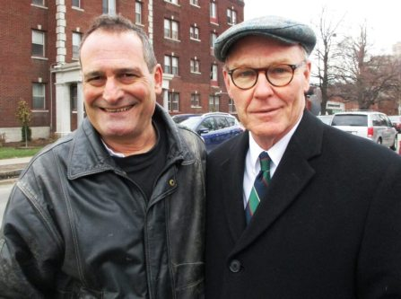 (left) David Kramer; (right) Gerald Rooney [Photo: Marion Romig]
