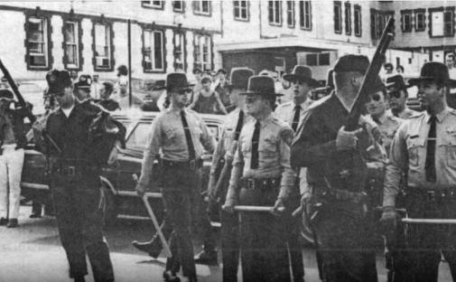 Armed Police at Syracuse University - Sept. 1970 newspaper photo