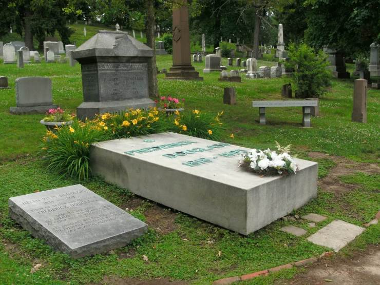 Frederick and Helen Pitts Douglass graves in Mount Hope Cemetery - Photo by Leigh Fought