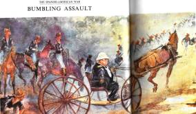 300-pound General William Shafter riding in a one horse buggy [Painting by Charles Johnson Post]