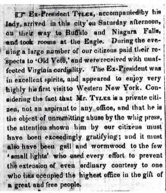 Rochester Daily Advertiser, September 6th, 1847 [Courtesy of the Local History Room of the Rochester Public Library]