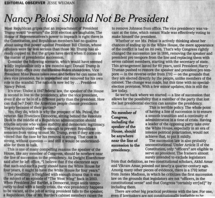 from the Opinion Page, The New York Times, 11/4/19