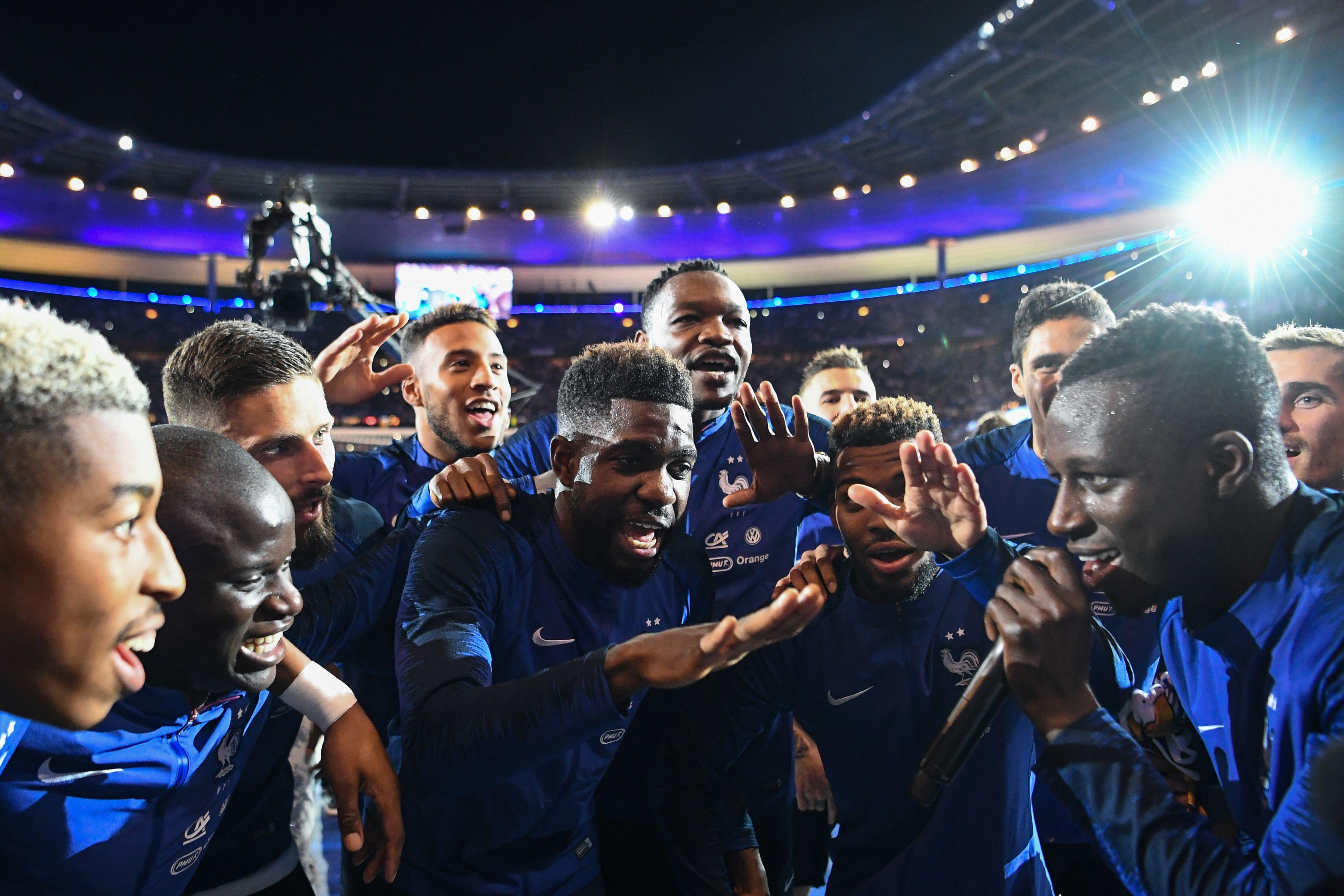 N Golo Kante song with English lyrics as France players and fans     SONG LYRICS IN ENGLISH