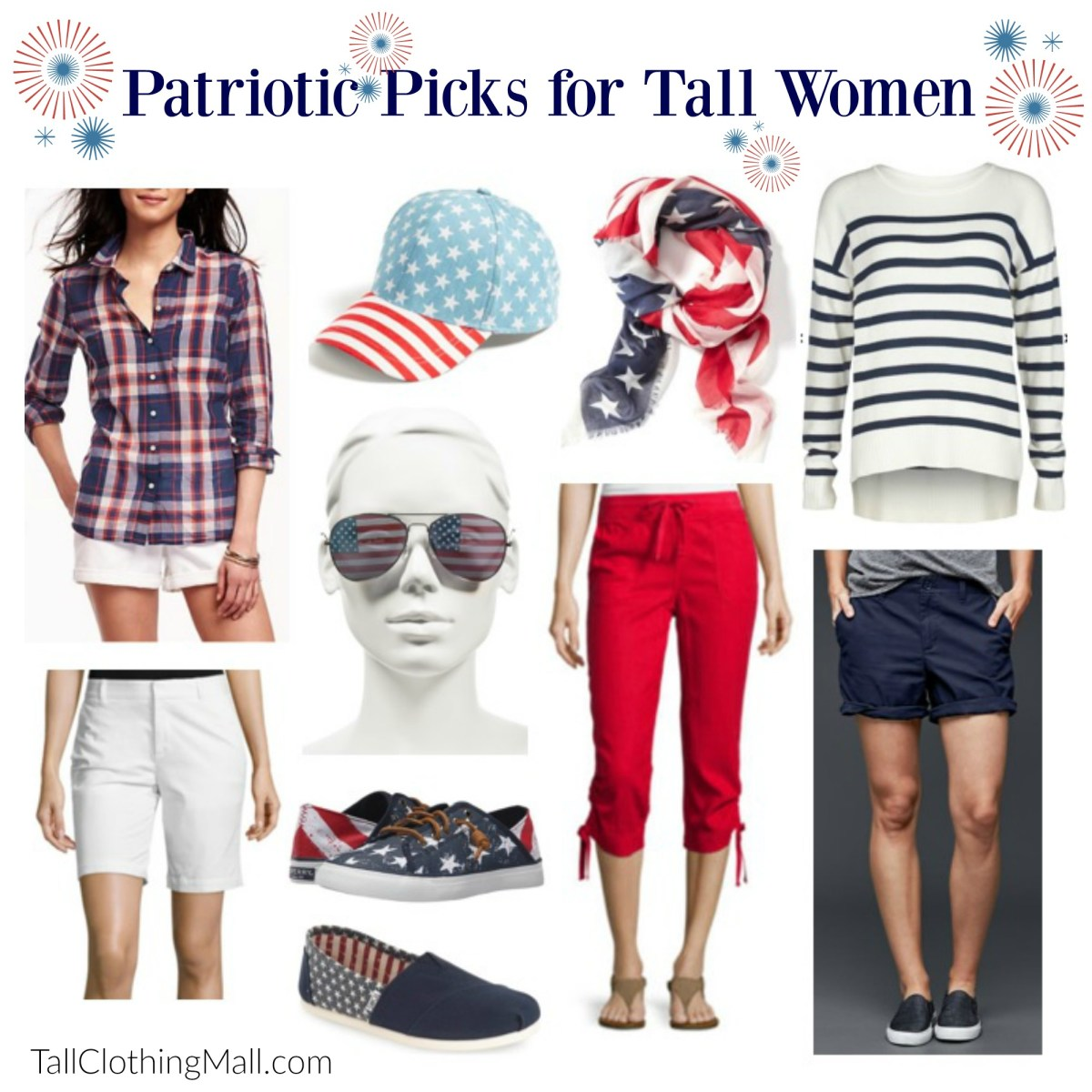Patriotic Picks for Tall Women