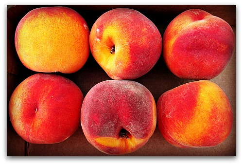 orange red peaches