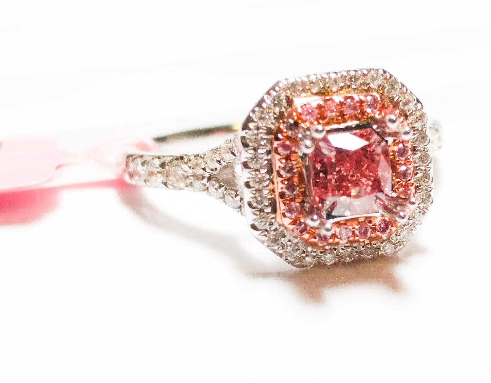 Lummy Intense Vivid Pink Diamond Engagement Ring Gia G Intense Vivid Pink Diamond Engagement Ring Pink Diamond Ring Pink Diamond Rings San Antonio wedding rings Pink Diamond Ring