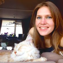 Tamara Rouwendal and her cat Pip