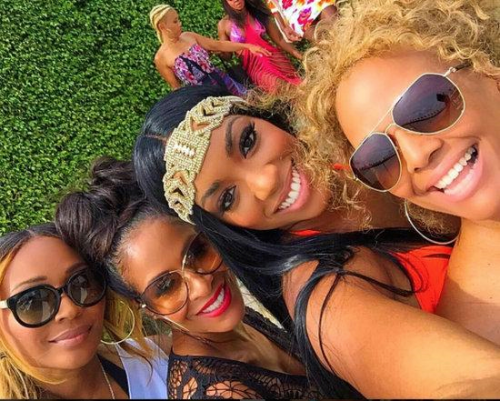 RHOA In Miami The blond in the back is Tammy