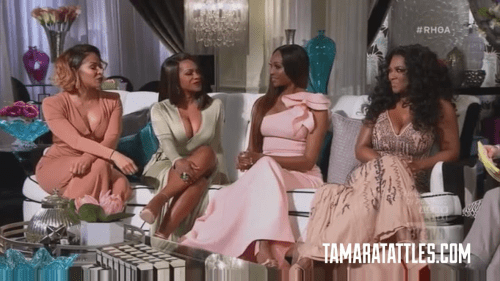 RHOA reunion marked left couch