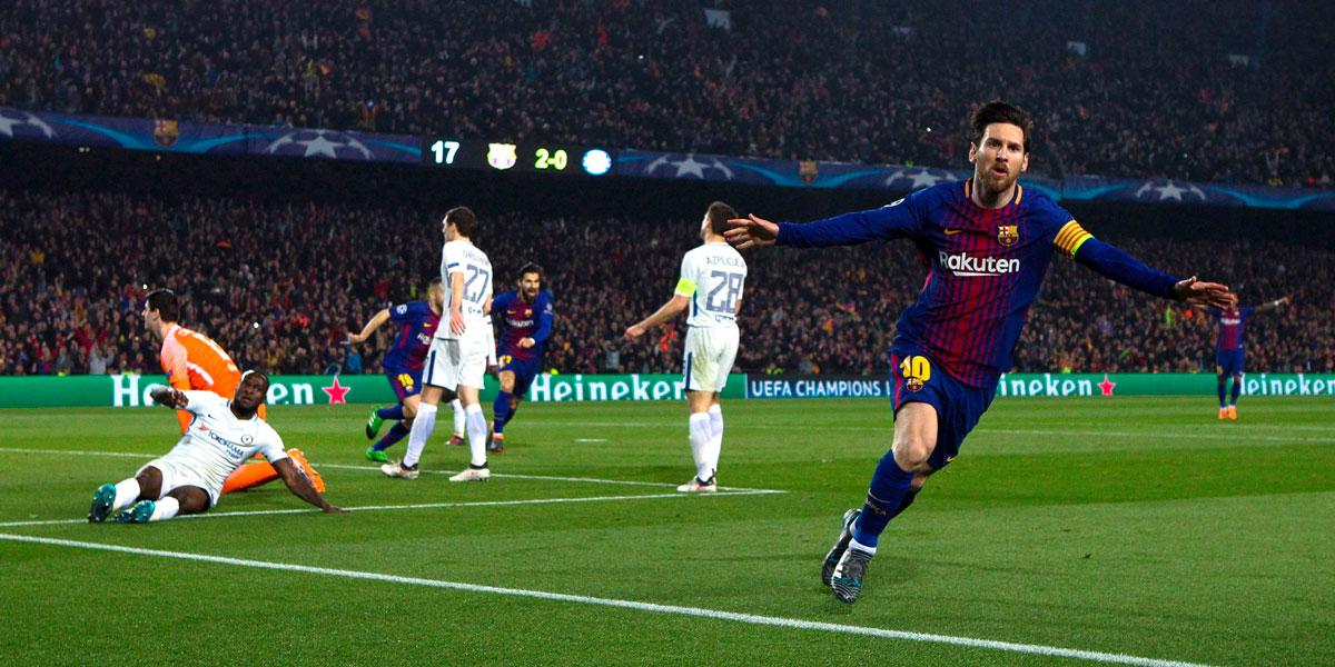 Messi se robó la serie y Barcelona pasó a cuartos de final
