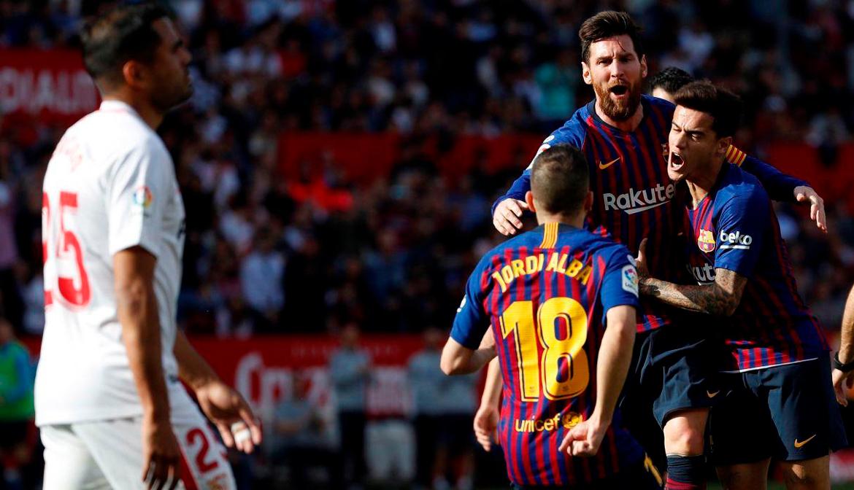Messi llegó a su hat-trick número 50 ante Sevilla