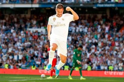 Hazard marca su primer gol con Real Madrid