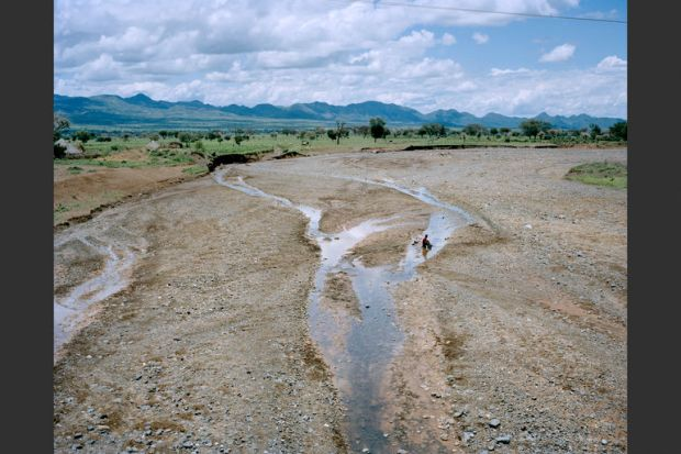 A dried-up area of the Sagan River running through Konso, Ethiopia.
