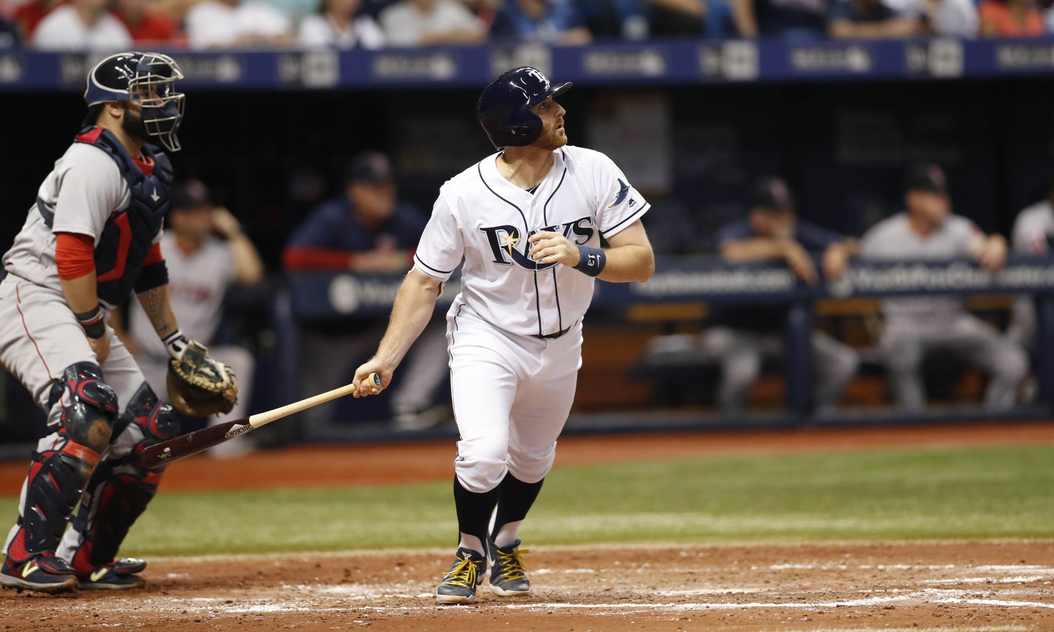 Brad Miller's 80 RBI are two shy of his total for the past two seasons combined. (Photo Credit: Tampa Bay Rays)