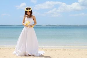ハワイ挙式ウエディングドレスデザイン