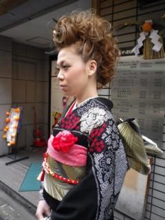成人式の髪型用リーゼントスタイル1